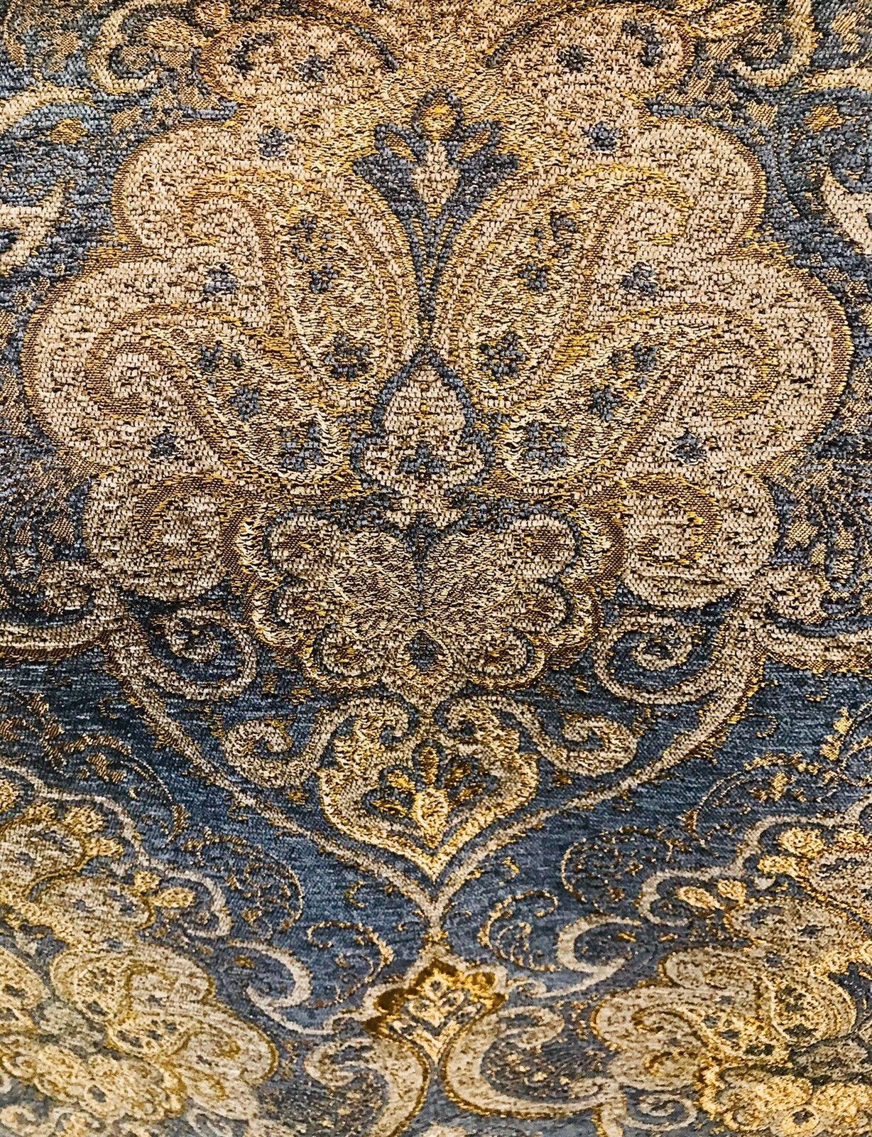 Swatch Antique Inspired French Brocade Chenille Velvet