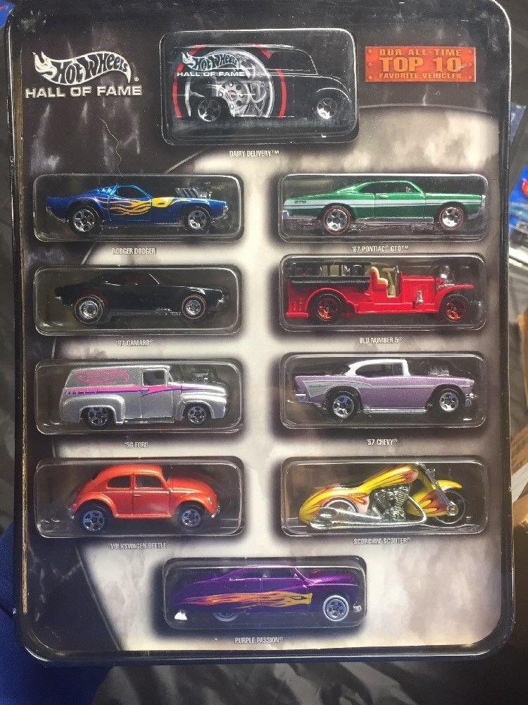 HOT WHEELS HALL OF FAME TOP 10 FAVORITE VEHICLES COLLECTOR CARS IN ...