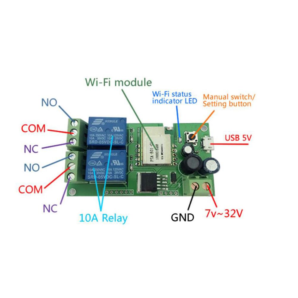 DC 5V12V Sonoff WiFi Wireless Smart Switch Relay Module