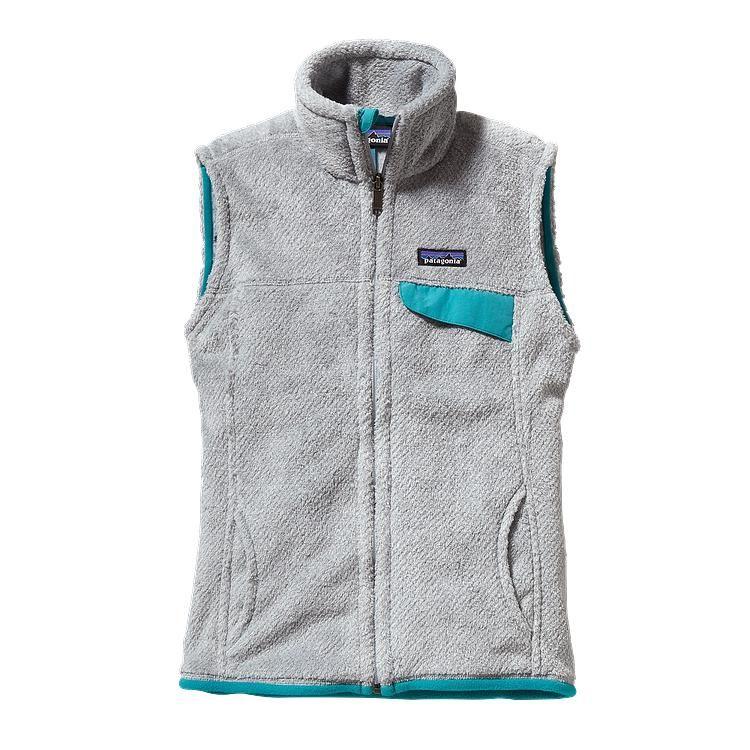 Patagonia Women's Re-Tool Fleece Vest - Tailored Grey - Nickel X-Dye w/Tobago Blue (TNXB)  Size Large in Grey or Ivory!