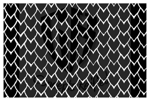 Weathered Dragonscale Reusable Stencil - Multiple Sizes