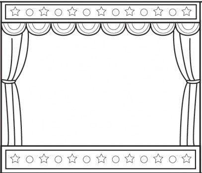 Dessin rideau de th tre vierge pour cr er une affiche - Dessin de theatre ...