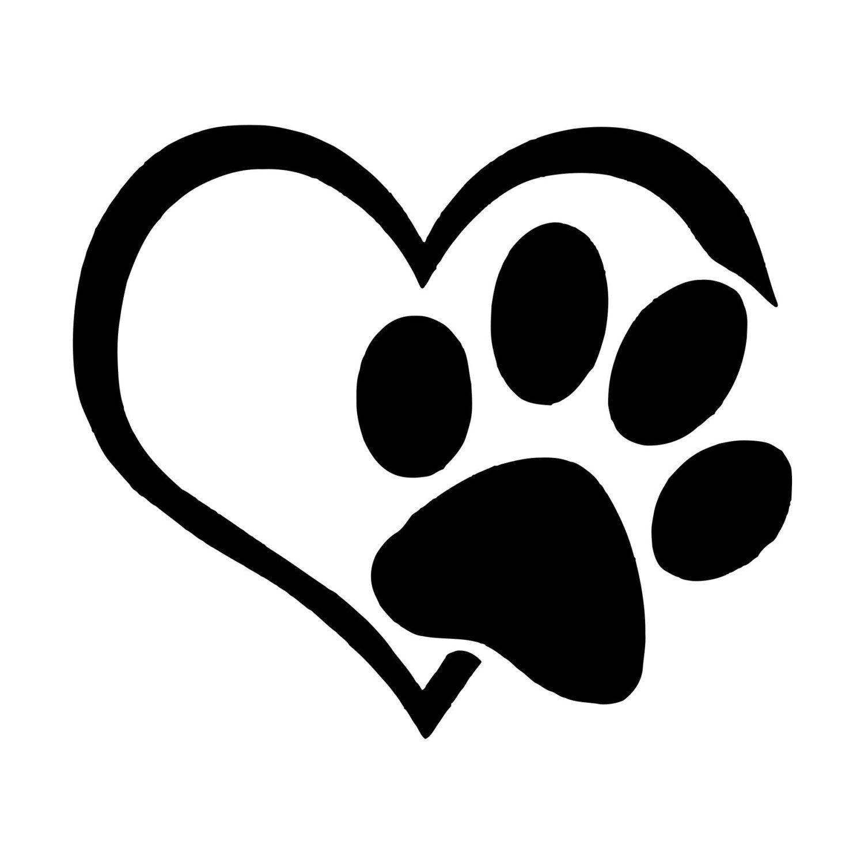 LOVE Paw Print Mug Decal Laptop Decal Tumbler Decal Dog Lover Window Decal
