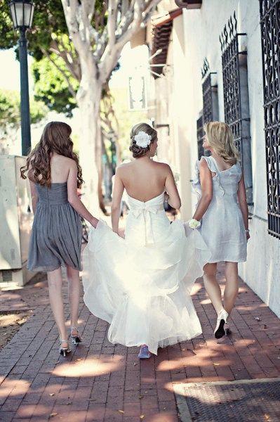 Santa Barbara Wedding by La Fete #bridemaidshair