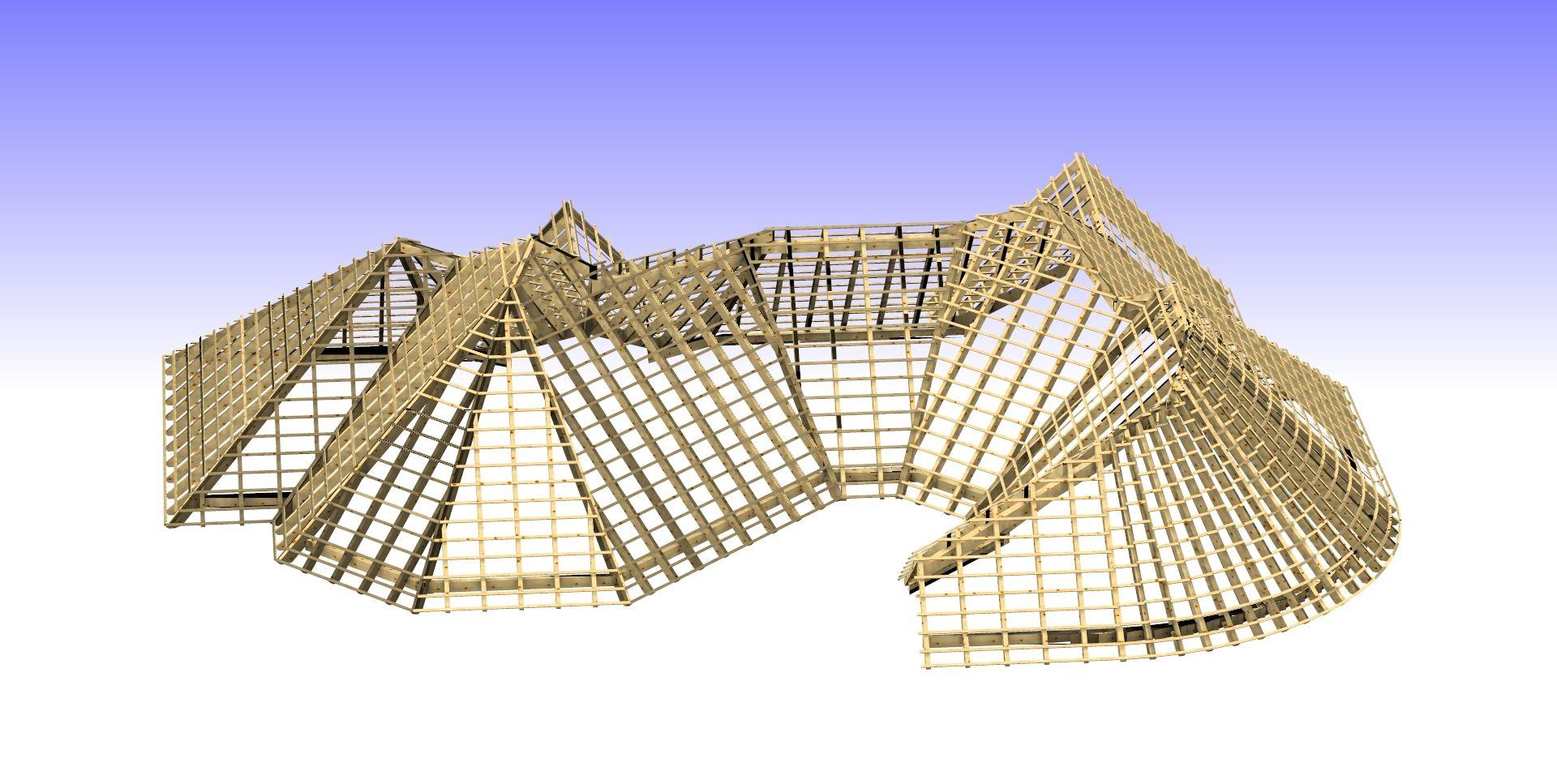 Dachstuhlkonstruktion Fur Maschinellen Abbund Durch Hundegger K2i