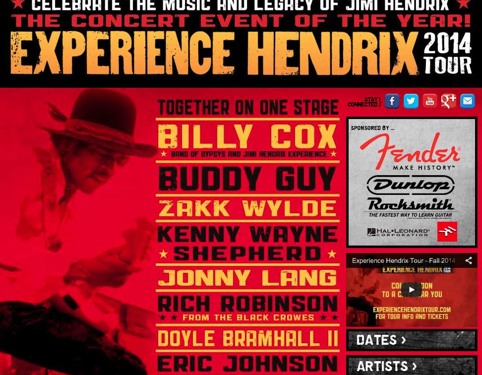 hendrix tribute tour 2014