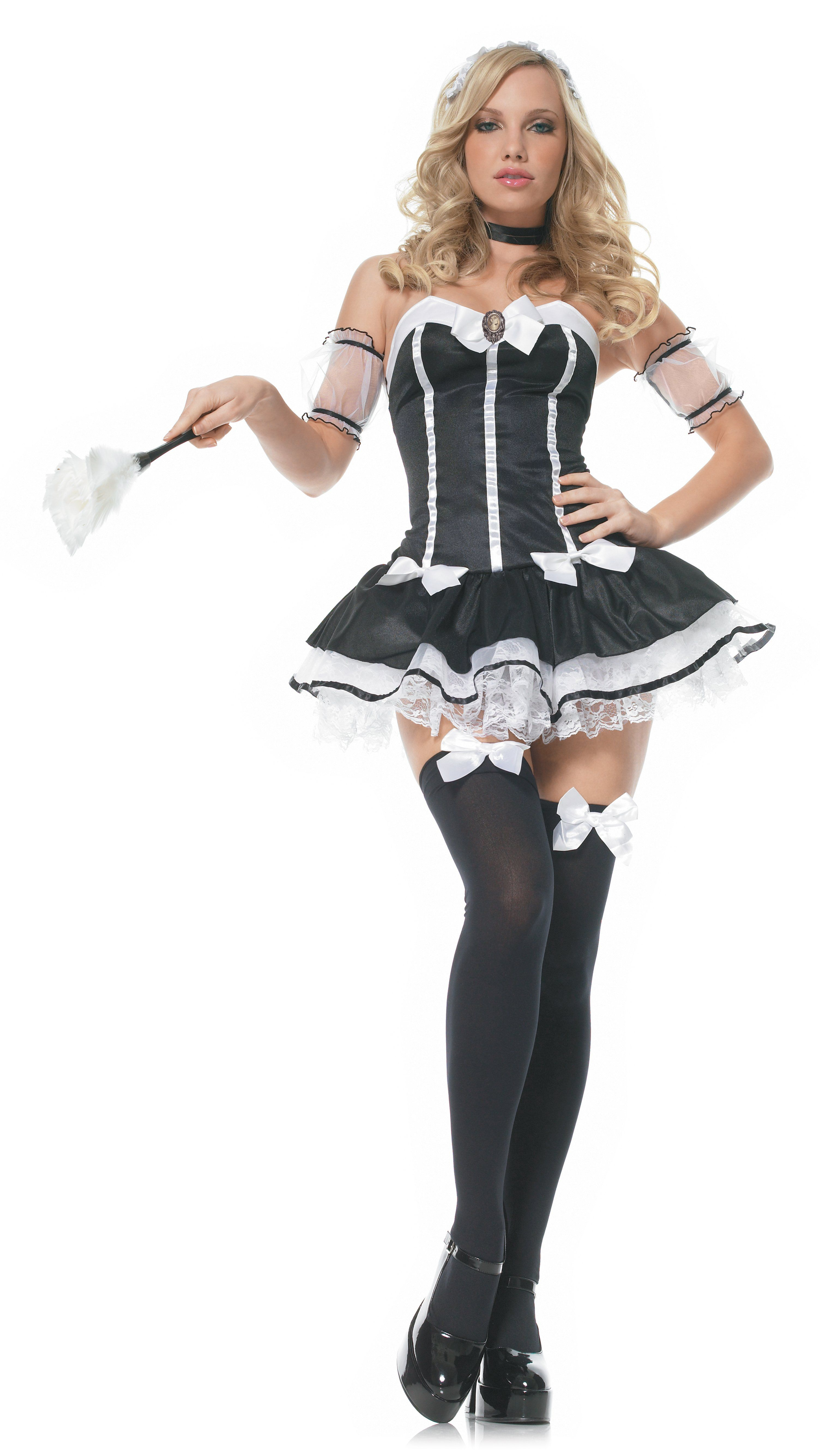 Feather Duster French Maid Chamber Dress Up Halloween Costume Accessory 2 COLORS