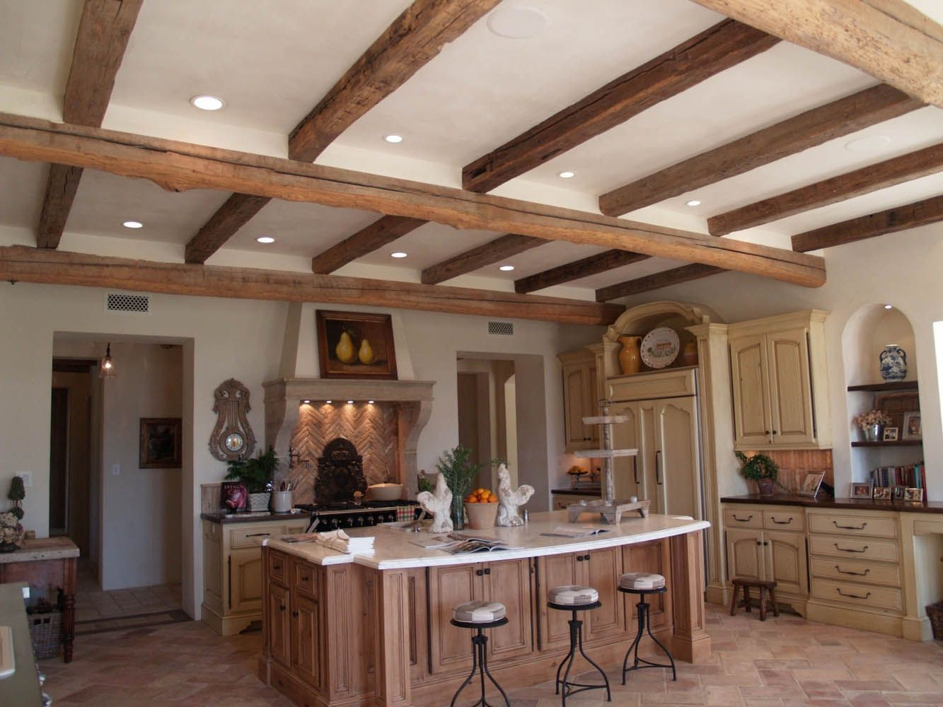 3x8 log siding hand hewn pine - This Kitchen Used 7x7 Live Edge Barn Beams With 7x7 Hand Hewn Barn Beams Products