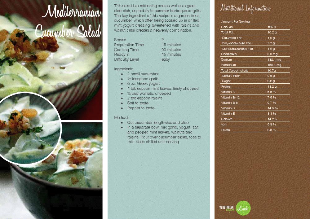 Mediterranian cucumber salad httpvegetarianbodywp food forumfinder Image collections