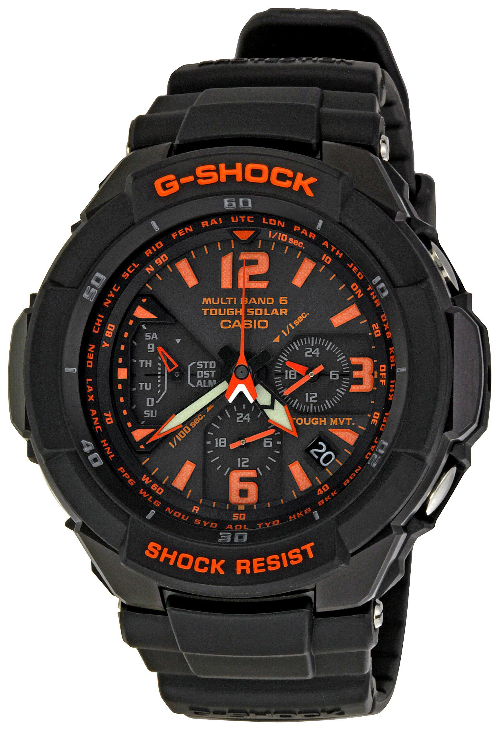 Amazon.com  Casio Men s GW3000B-1ACR G-Shock Solar Power Black With Orange  Dial Watch  Casio  Watches f878d50824