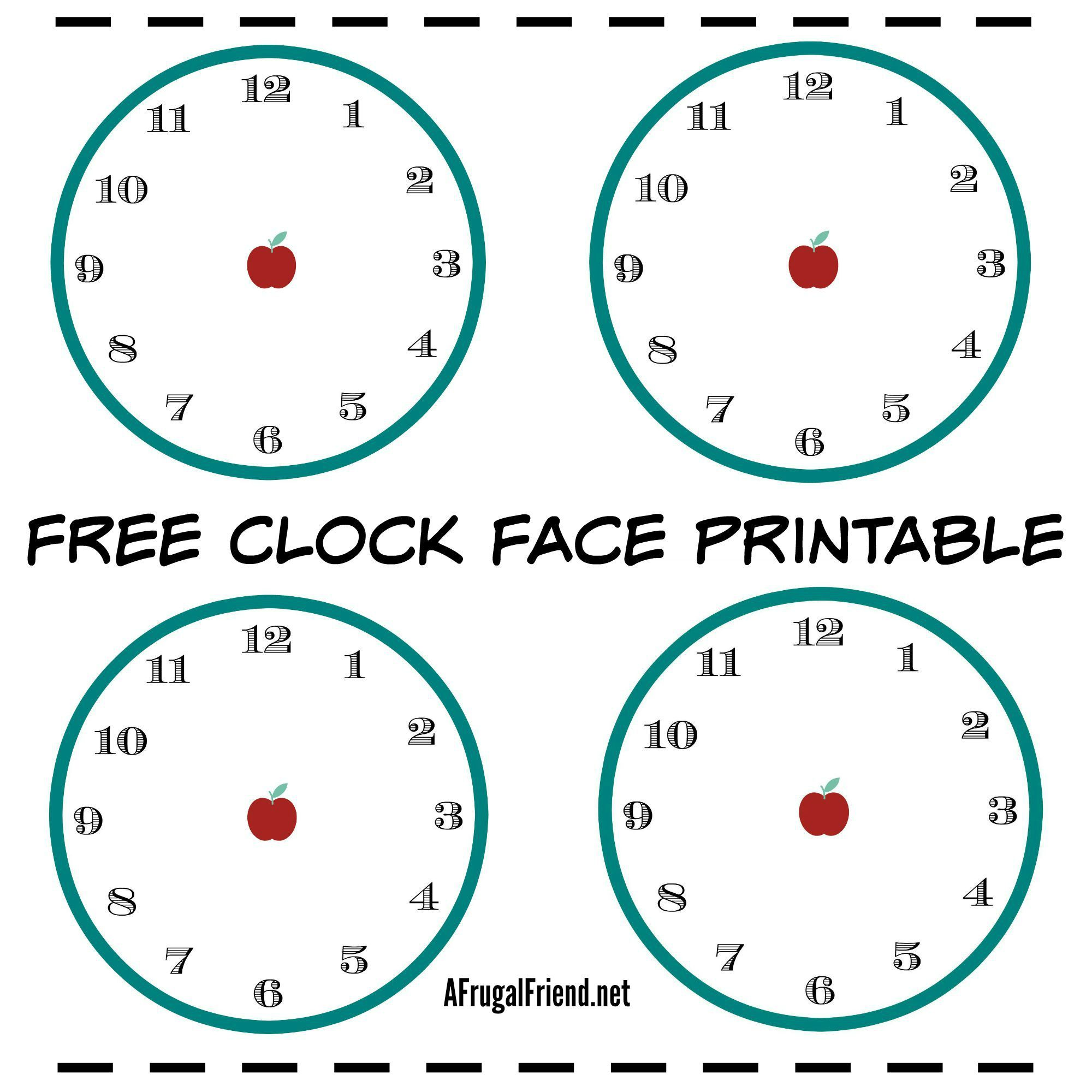 Free Clock Face Printable With A Twist For Kids To Help Kids