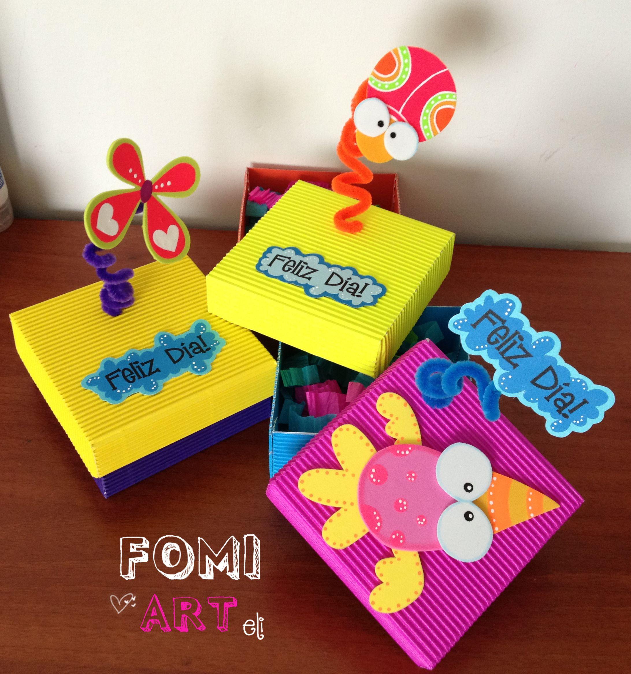 Cajas decoradas con fomi varios pinterest scrapbook - Reciclaje decoracion ideas ...