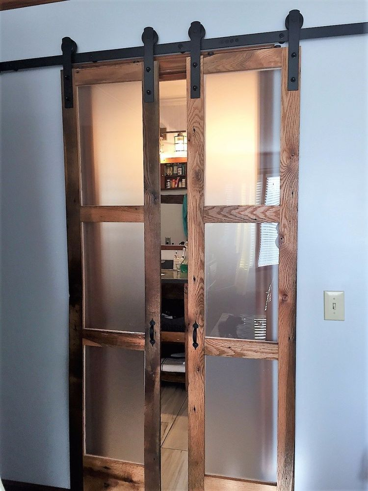 "Photo of How to Build Double Sliding ""Barn-Style"" Doors for Bathroom DIY"
