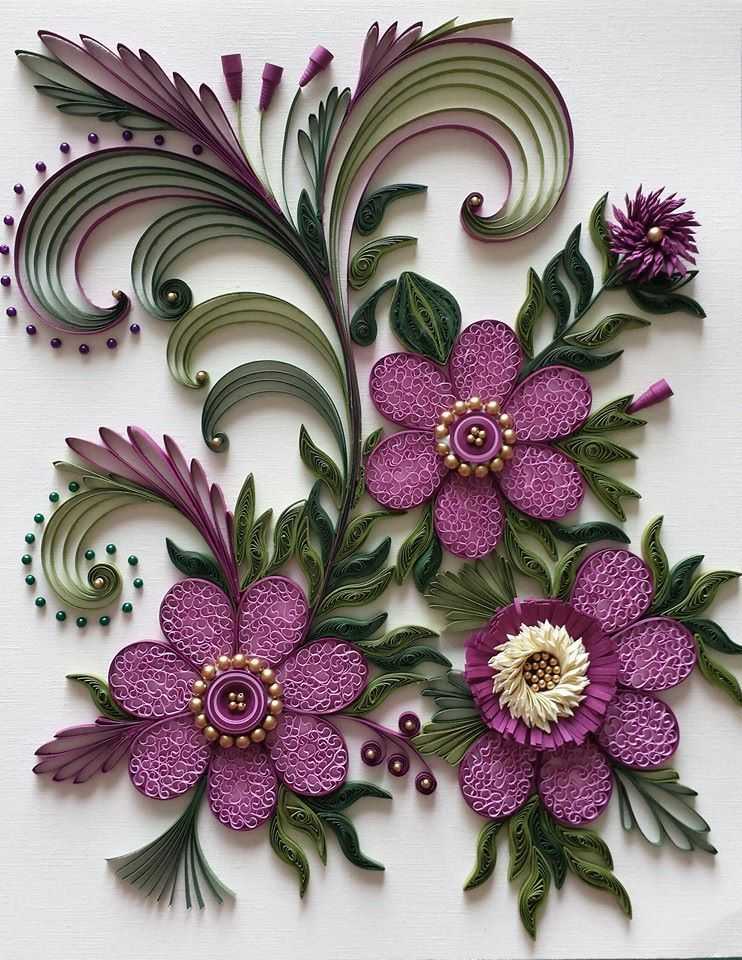 Pin By Rebecca Vessels On Quilling 3d Flowers 3 Quilling