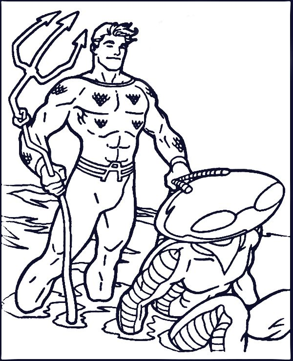amazing aquaman coloring pages free printable | superhero
