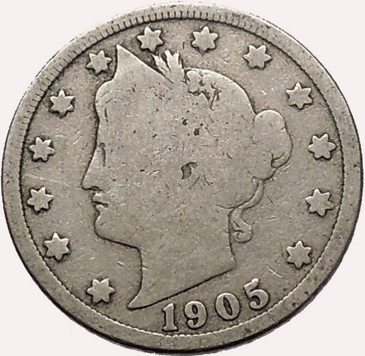 Canada 1957 Nickel 5 Cent Coin.