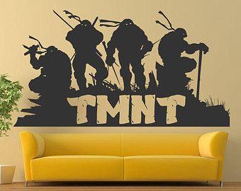 Teenage Mutant Ninja Turtles Tmnt Wall Decals Vinyl Decals Murals Sticker Children Decals Kids Pla Ninja Turtle Room Diy Wall Decor For Bedroom Turtle Room