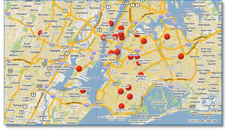 map of new york city and surrounding areas DNA Testing New York