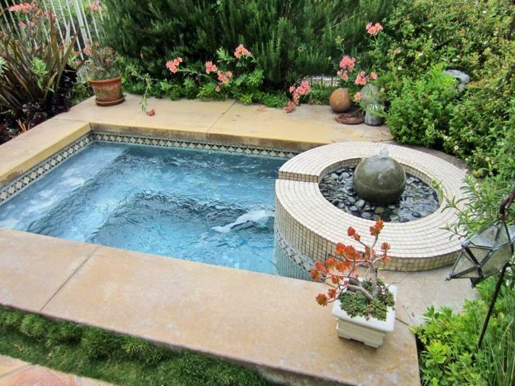 whirlpool im garten - idee für moderne gartengestaltung | jacuzzi ... - Moderne Gartengestaltung Mit Pool