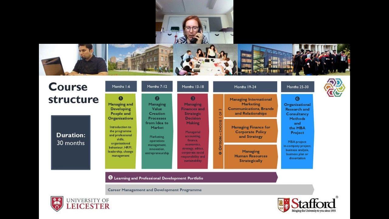 University of Leicester MBA Webinar July 19, 2017