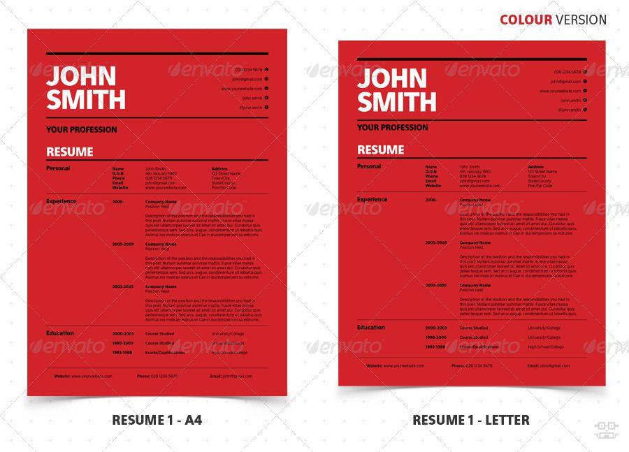 Swiss Style Clean Modern Resume CV Swiss style, Modern resume - Modern Resume Styles