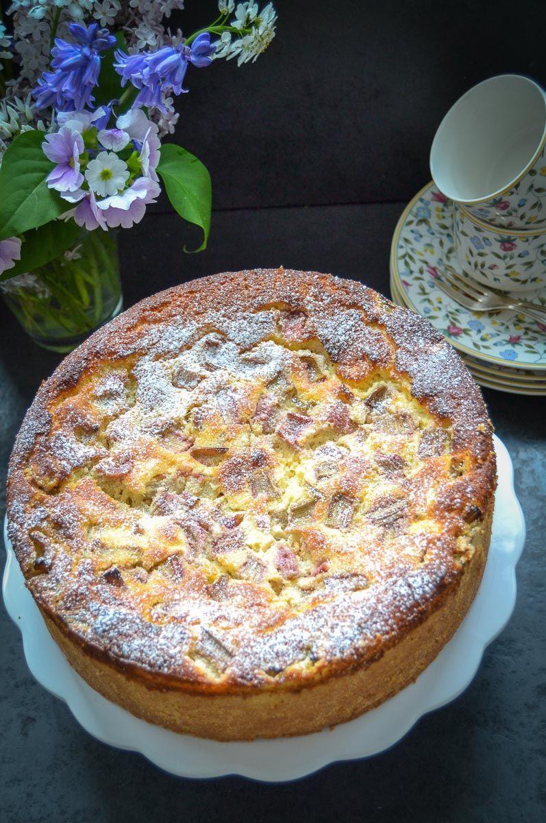 Omas leckeres Rhabarberkuchen Rezept mit Ricotta #sweetpie