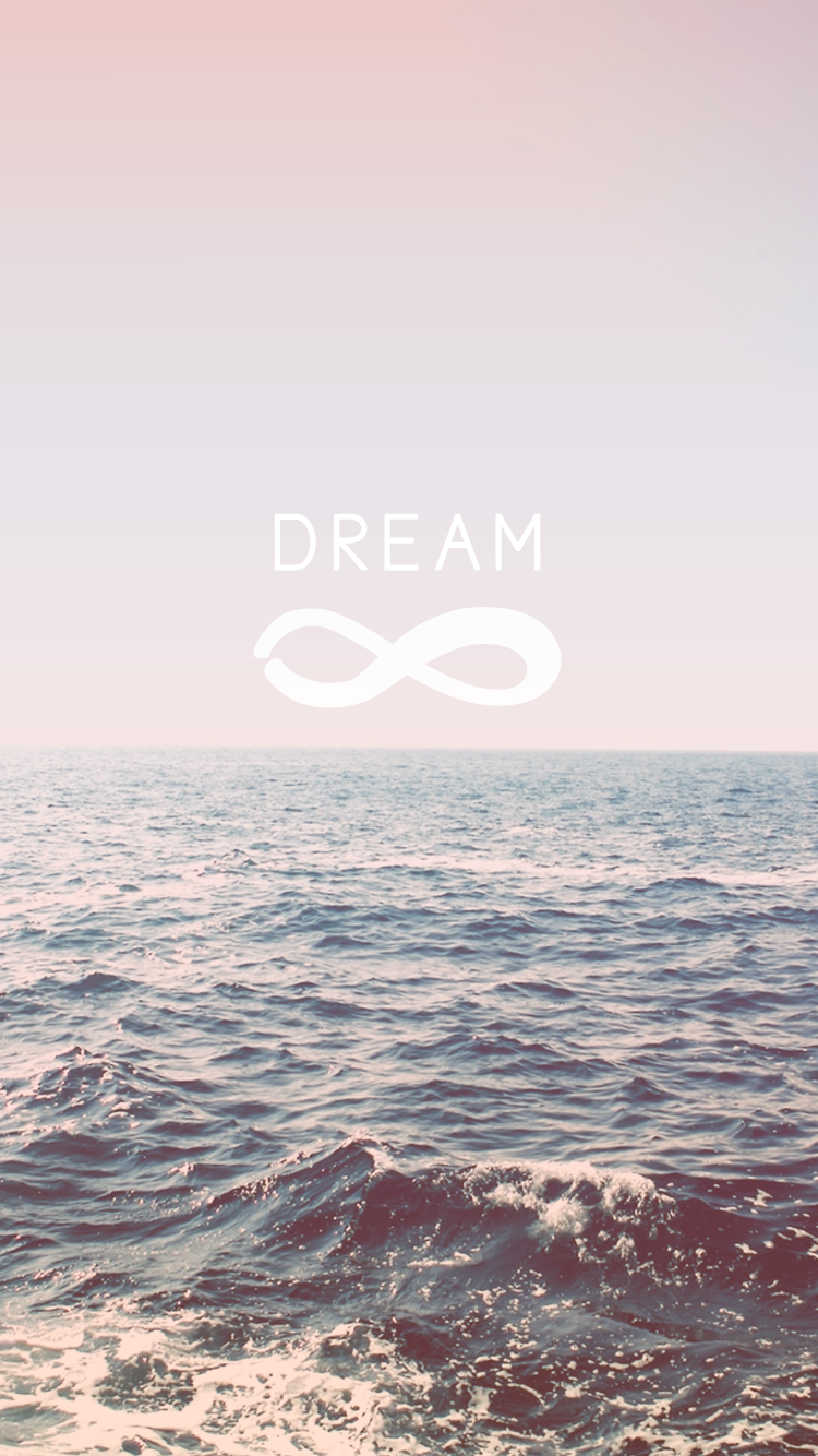 Dream Infinity Symbol Pale Pink Iphone 6 Wallpaper Free Ocean Sea