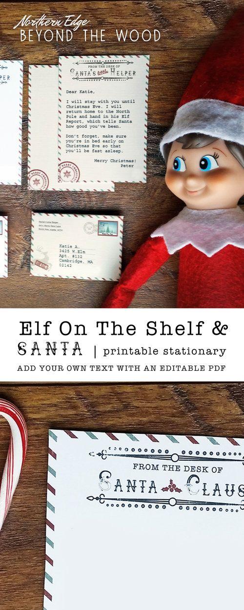 Mini Elf Letter Digital Download christmas Elf letters, Elf on