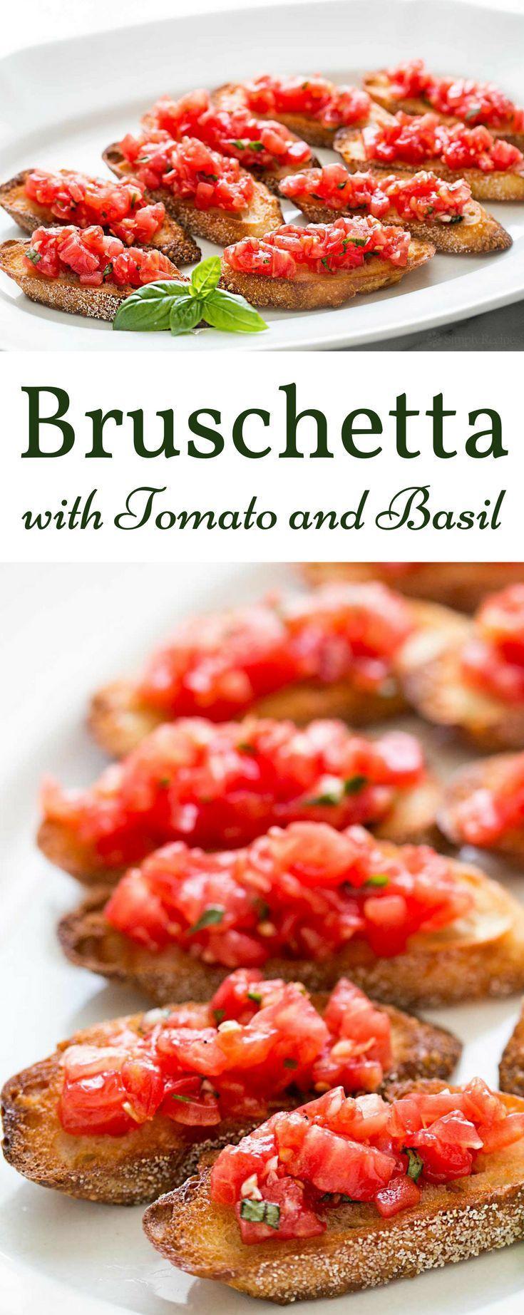 Photo of Bruschetta with tomato and basil – #basil #bruschetta #with #tomato #und