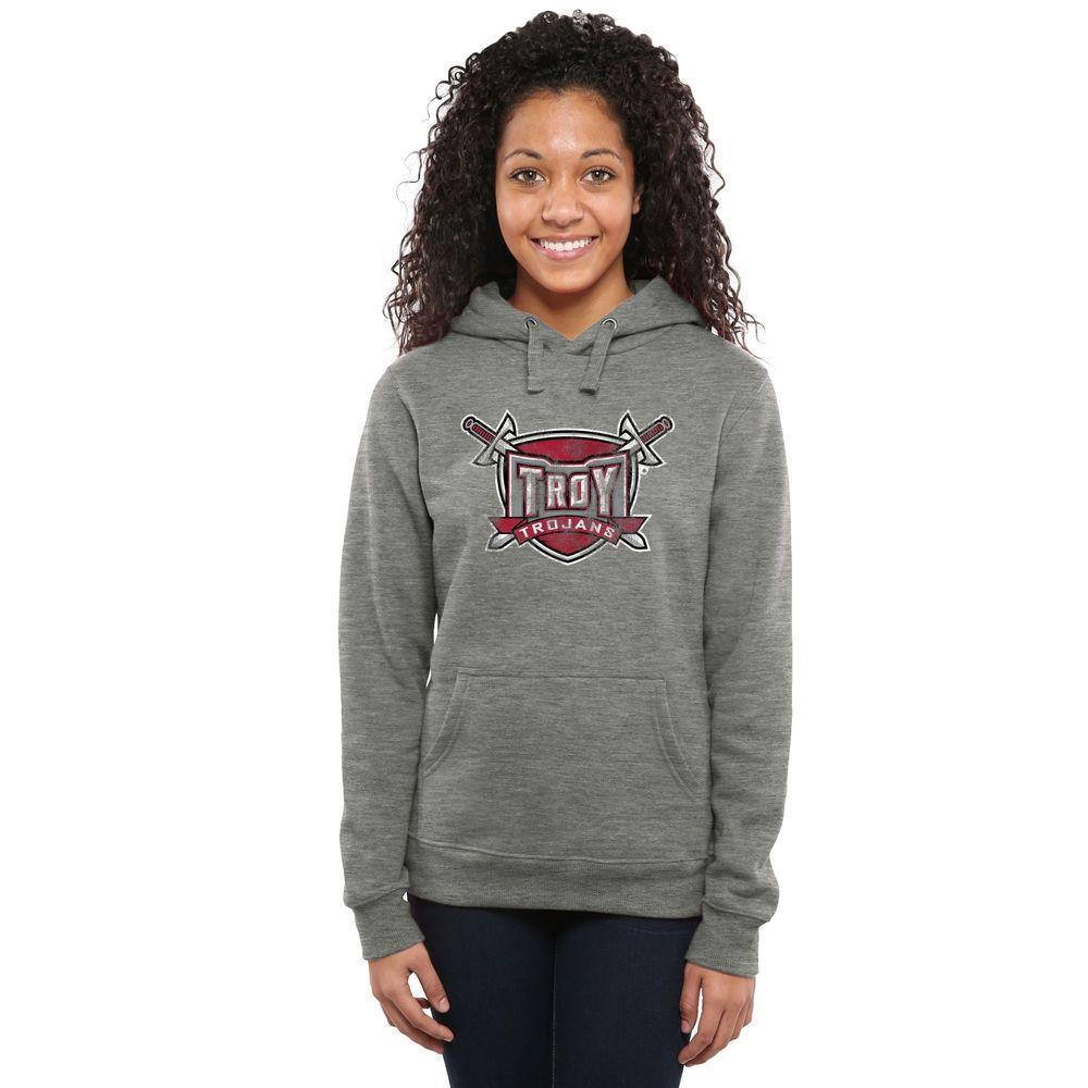 Troy University Trojans Women S Ash Classic Primary Pullover Hoodie Hoodies Yellow Hoodie Pullover Hoodie [ 1000 x 1000 Pixel ]