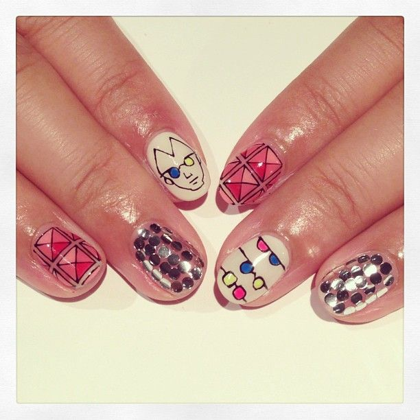 Sun glass & studs art nails #avarice #art #kayo #design #nails #nailart #nailsalon #sunglass #studs (NailSalon AVARICE)