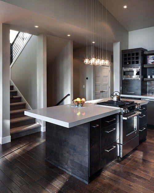 Dark cabinetry