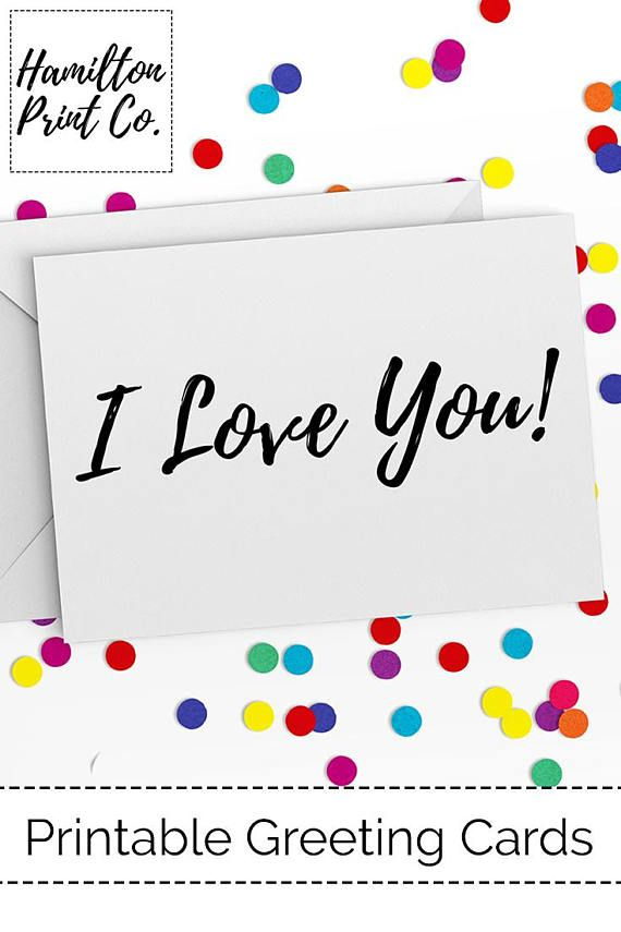 graphic about I Love You Card Printable identify I Appreciate Your self Card Printable Fast Down load PDF US Letter A4