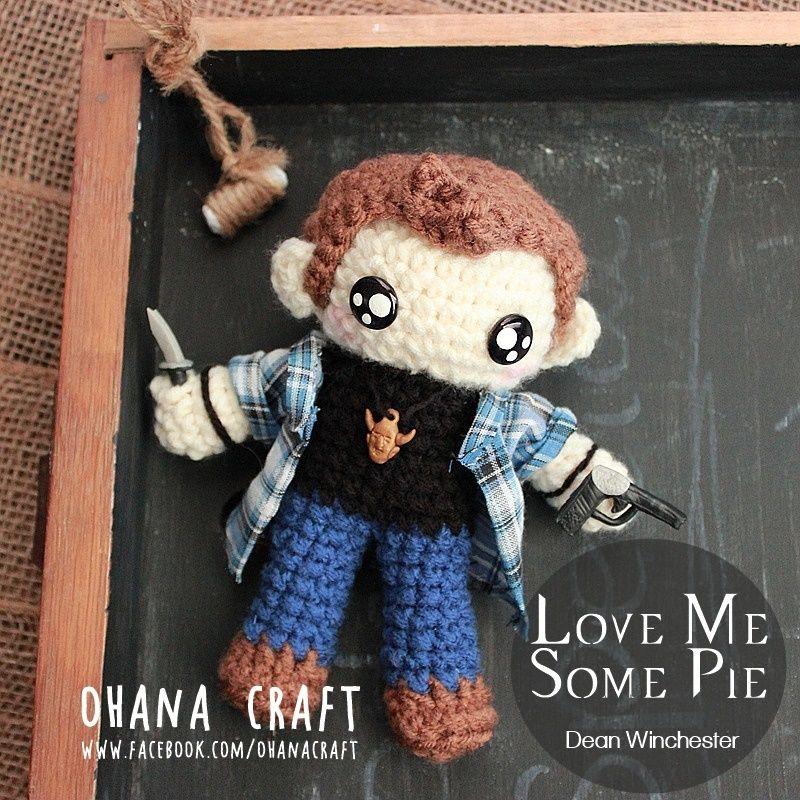 Supernatural Inspired crochet Amigurumi doll-- Crochet Dean Winchester https://www.facebook.com/OhanaCraft/