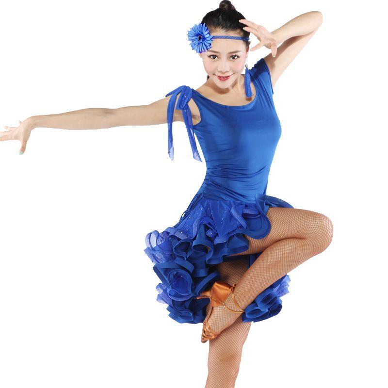 Rouge latine Costumes de danse pour femmes vêtements