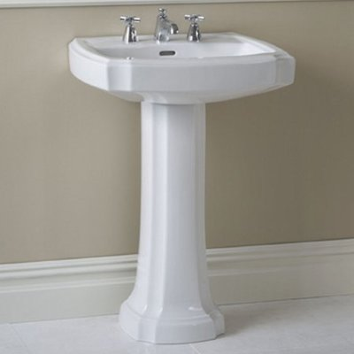 Toto Guinevere Vitreous China Rectangular Pedestal Bathroom Sink With Overflow Sink Pedestal Sink Wall Mounted Bathroom Sinks