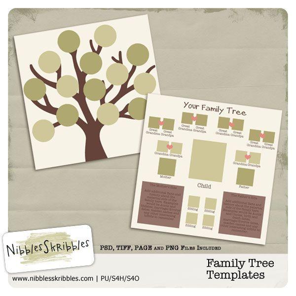 Family Tree: Templates | Scrapbook templates, Family tree ...