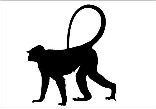 Monkey Silhouette Vector Download Monkey Vector Animal Silhouette Silhouette Vector Horse Silhouette