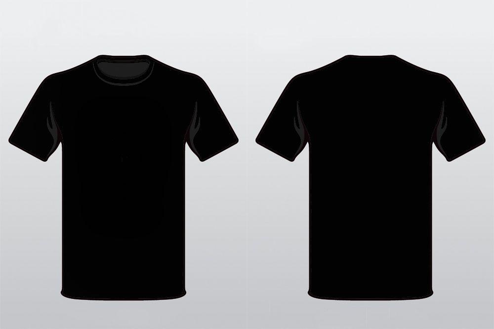 Download Black T Shirt By Alymunibari On Deviantart T Shirt Design Template Trendy Shirt Designs Shirt Template