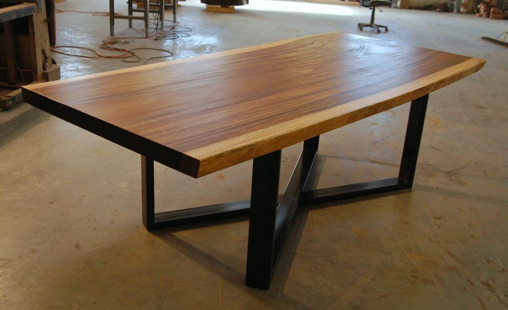 Single Slab, Raw Edge Live Edge Monkeypod Dining Table