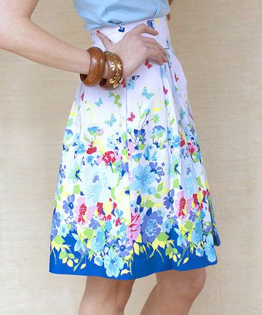 Another great find on #zulily! Blue Hibiscus Alison Skirt by Kayce Hughes #zulilyfinds