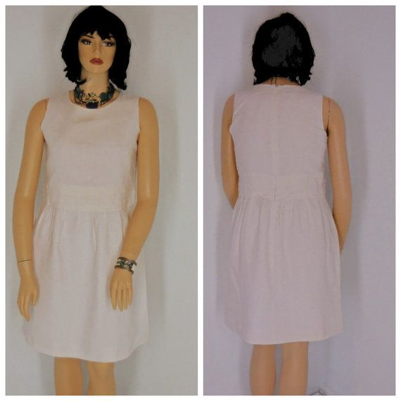 White linen dress size 14