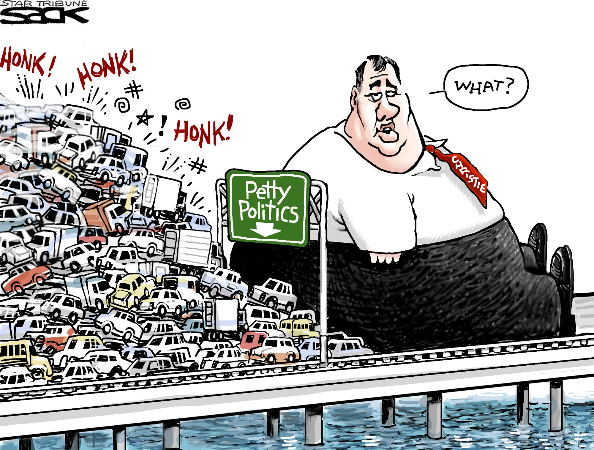 Image result for free to use cartoon of christie bridgegate