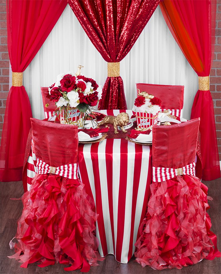 Fun And Bold Carnival Striped Look With Red White And Gold
