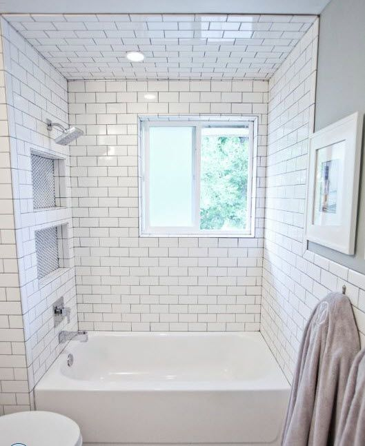 29 white subway tile tub surround ideas and pictures bath pinterest tile tub surround tub - Tile shower surround ideas ...