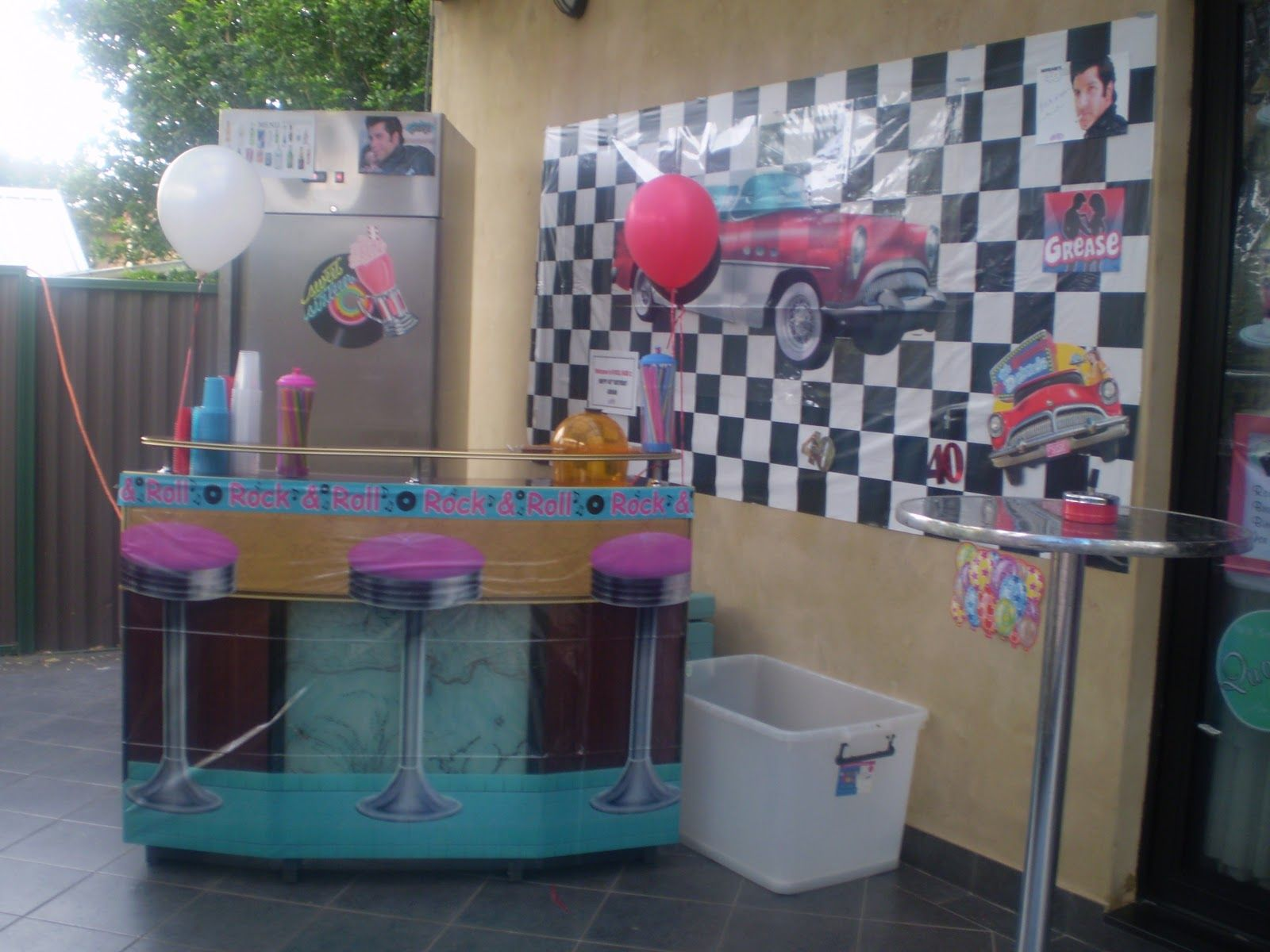 Beautiful Decoration Ideas Grease Themed Party Part - 2: Inspiring Grease Party Decorations #1 50s Rock And Roll Party .