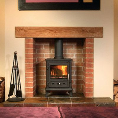 Brick Fireplace With Plaster Surround Fireplaces
