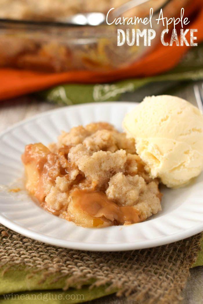 Caramel Apple Dump Cake - so easy and perfect for fall! { lilluna.com }