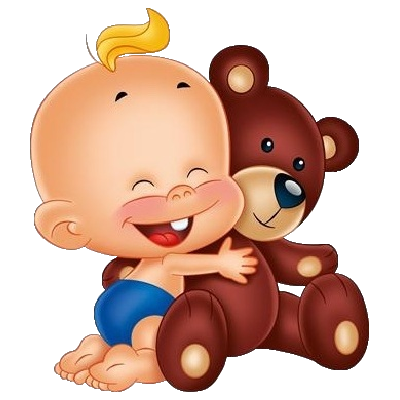 Images Are On A Transparent Background Cute Baby Holding Teddy