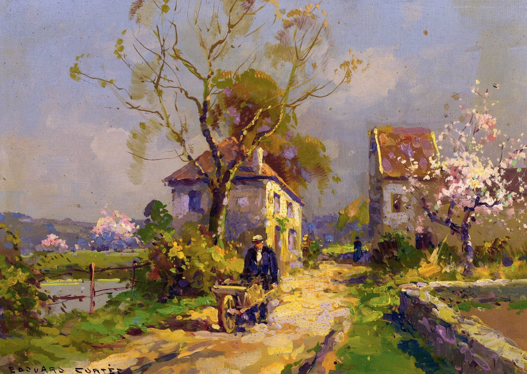 Extrêmement Édouard Leon Cortès (French painter) 1882 – 1969 A Spring Day, oil  IZ49